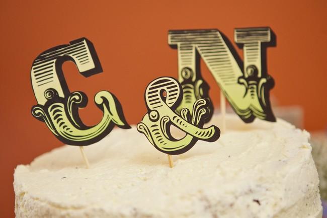 letter wedding cake toppers alternative art deco decor