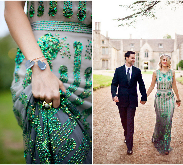 Gallery For Emerald Wedding Gown