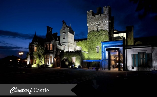 Clontarf Castle at Night