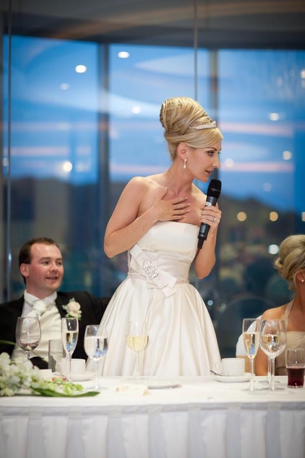 Bride making speech