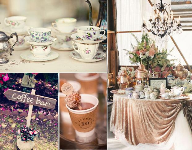 Coffee station at wedding