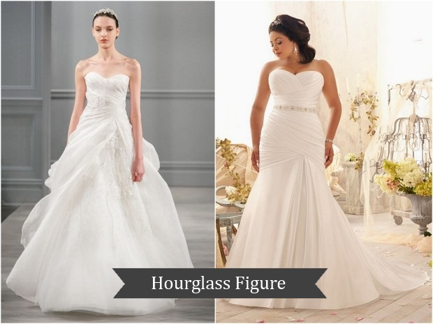 wedding dress for hourglass figure