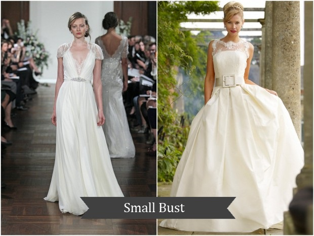 Wedding Dress For Small Bust