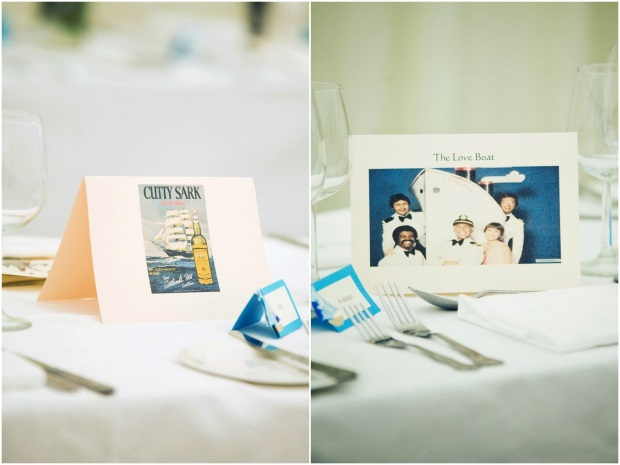 funny alternative wedding table name and photograph
