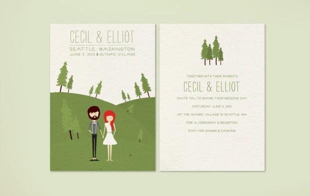 Wedding Stationery - 13 Pretty Illustrated Invitations ...