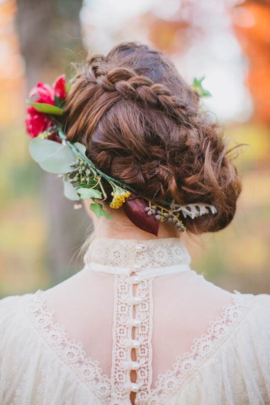 Bridal-hair-flowers-incorporated-wedding-hairstyle