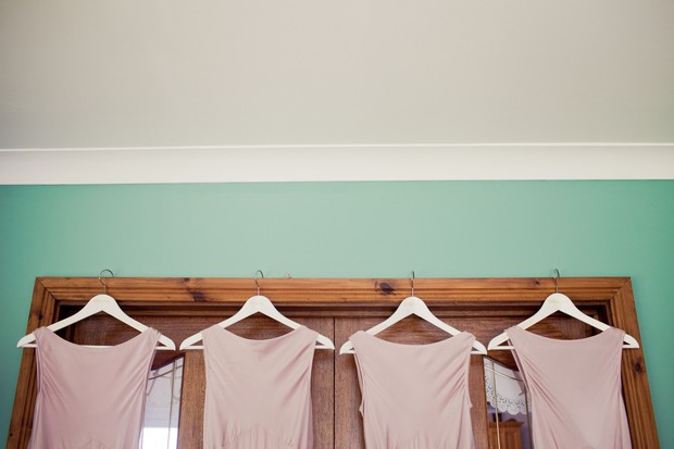 mint green pink wedding bridesmaids theme