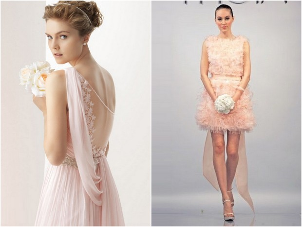 rose blush coloured wedding dresses 2014