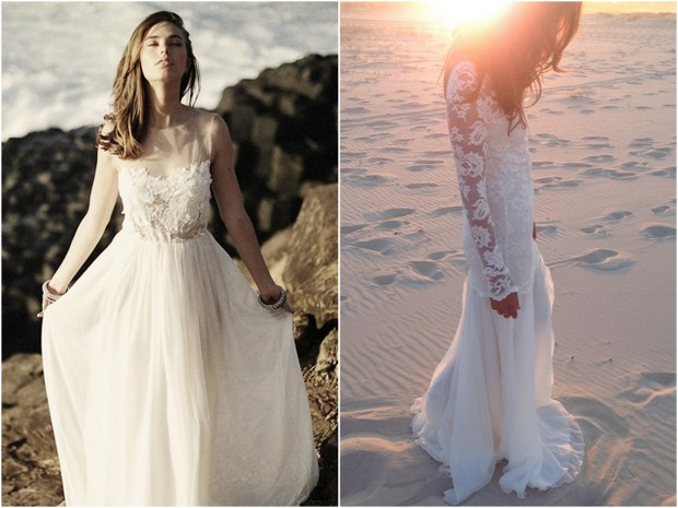 lace destination beach wedding dress