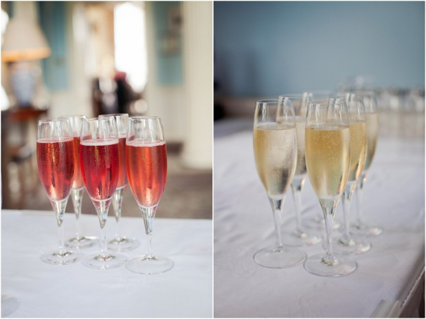 pink champagne wedding reception