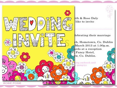 rosy days floral invite