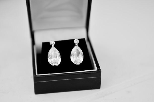 Crystal drop earrings bridal