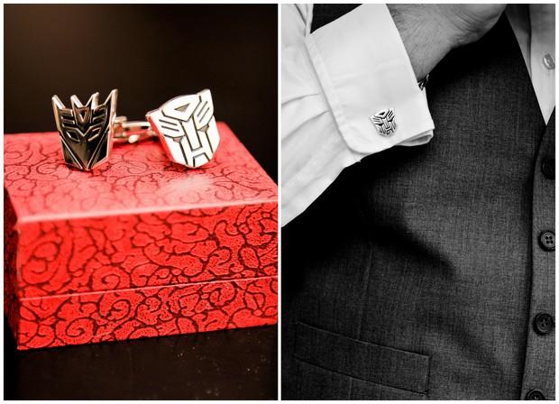 transformers cufflinks groom wedding