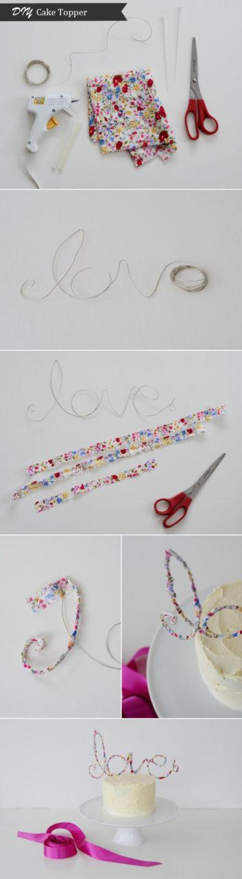 DIY Tutorial: Love Cake Topper   weddingsonline