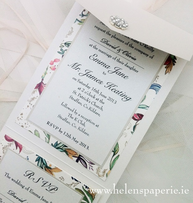 helens paperie floral invite
