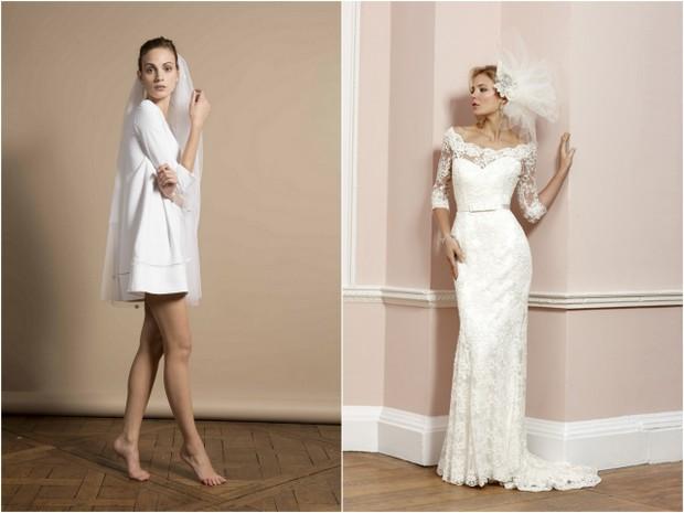 Sixties Style Short Wedding Dress