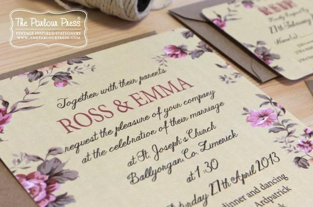 parlour press floral invite