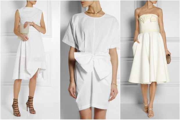 Unless You Re Opting To Celebrate Your Last Night Of Singledom With A Pie Eating Contest Crisp White Dress Is Fabulous Look For The Bride Be On Her