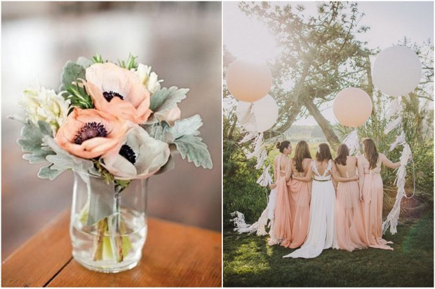 Pretty as a peach vintage peach rustic grey wedding colour pretty as a peach vintage peach rustic grey wedding colour palette junglespirit Gallery