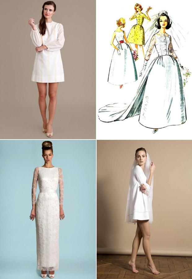 Vestidos de novia de los sesenta