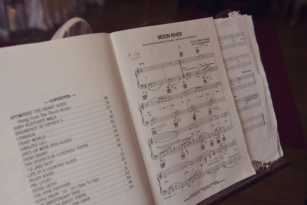 sheet music wedding ceremony moon river
