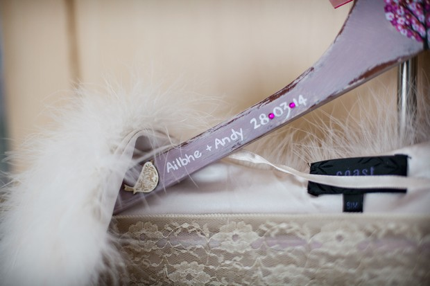 personalised wedding dress hanger