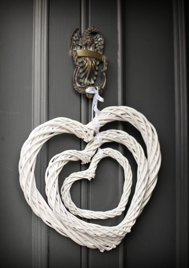 heart shape door decor