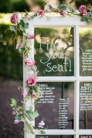 12 Creative Wedding Table Plan Ideas  weddingsonline