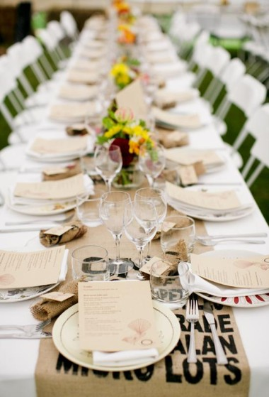 28 unique table runners for weddings unique table runner id