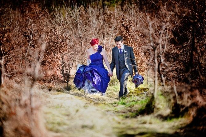bride-purple-dress