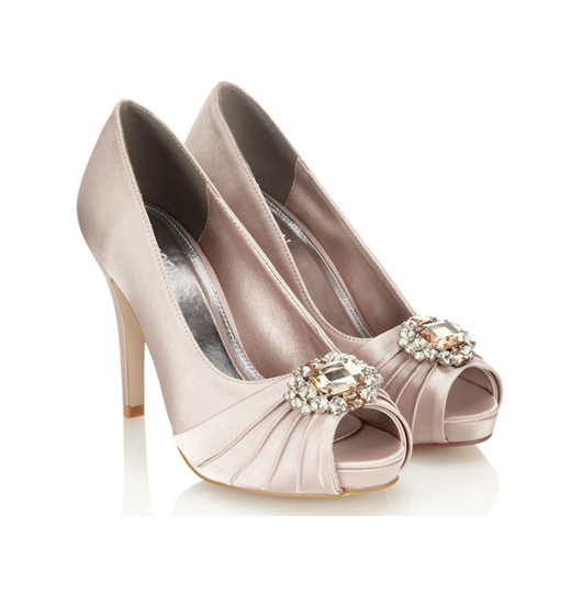 Gem Peeptoe Wedding Shoes
