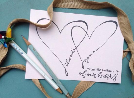 10 Sweet Thank You Card Ideas – Unique Wedding Thank You Card Ideas