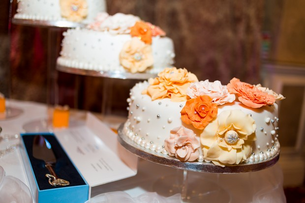white-orange-wedding-cake