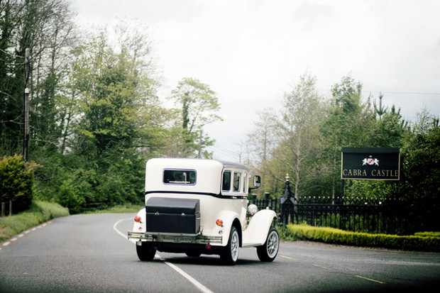vintage wedding car cabra castle