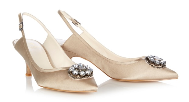 Champagne Kitten Heel Bridal Shoes