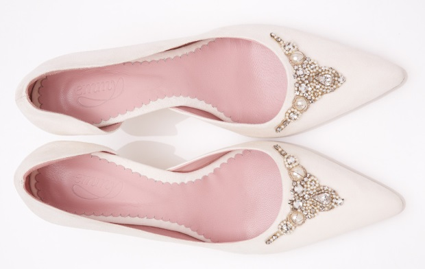 Kitten Heel Wedding Shoes Vintage Emmy Amelia