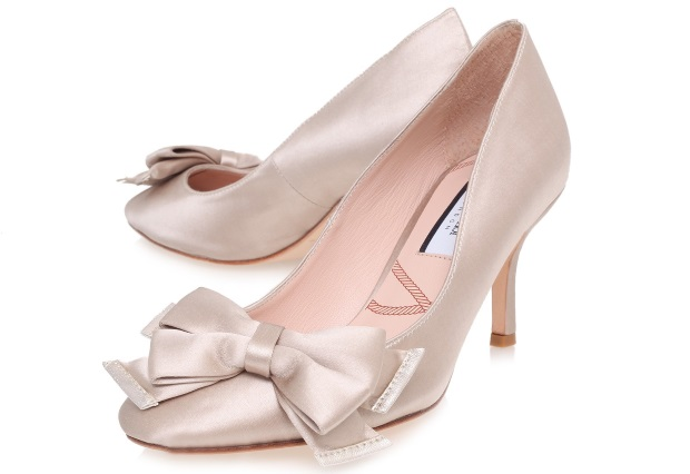 Lucy Choi Bow Mid Heel Wedding Shoes