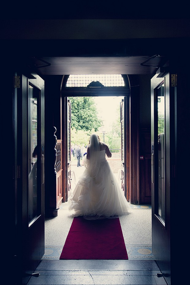 bride at end of aisle