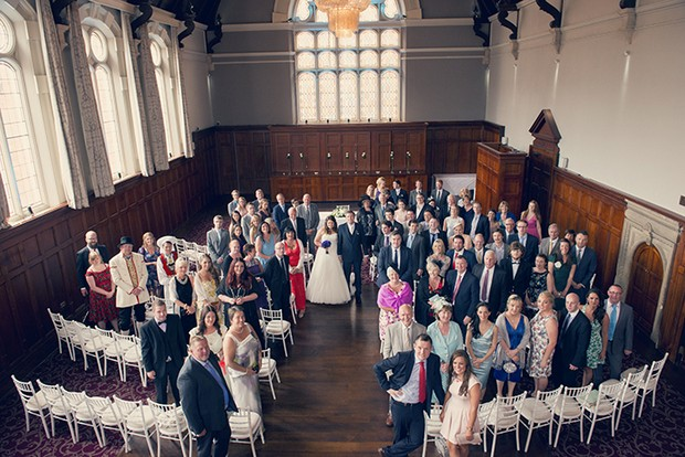 full wedding party guests photo