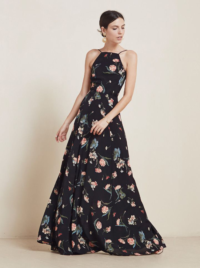 dark-floral-bridesmaid-dress