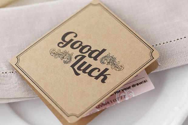 Lottery Ticket Holder Wedding Favour