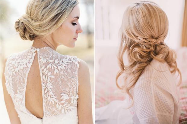 wedding hairstyle romantic Beautiful quiff haircut
