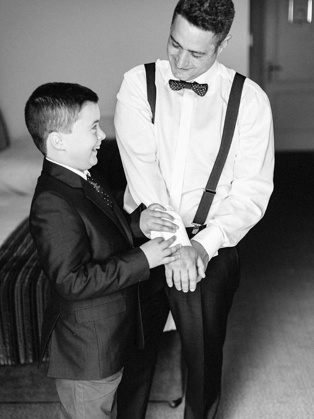groom page boy getting ready