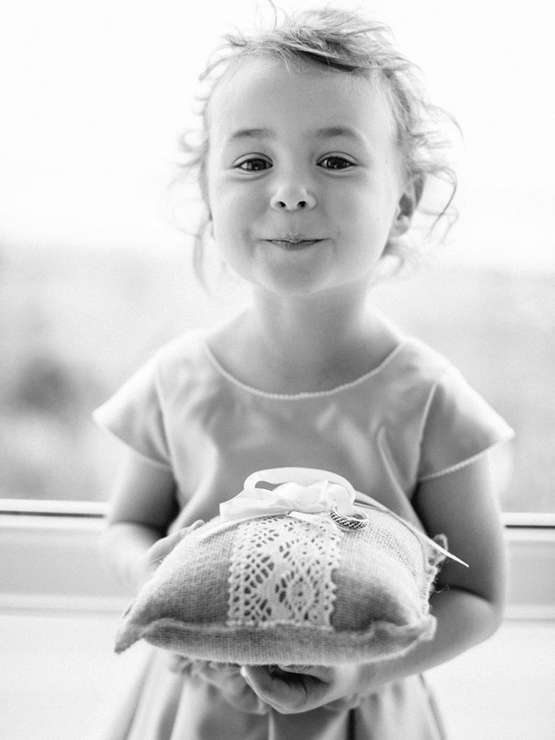 flower girl ring pillow portrait