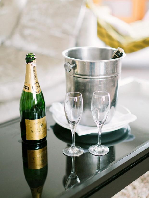 champagne ice bucket wedding morning