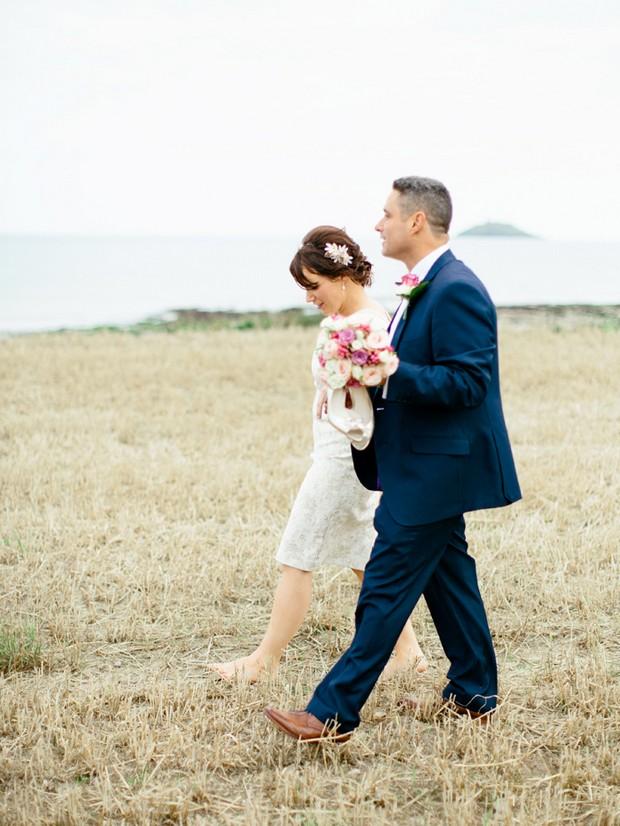 autumn beach wedding ireland