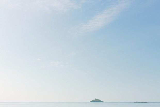 blue sky and sea photography island