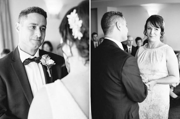 black and white civil ceremony photos