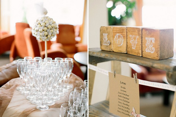 wooden love boxes wedding decor