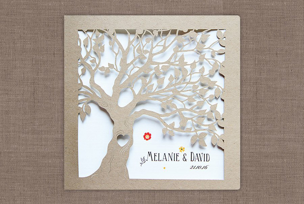 Save The Date Tree Wedding Invite. This Stunning Laser Cut Wedding  Invitation ...